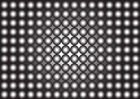 repeating pattern of black and white circles Stock Photo
