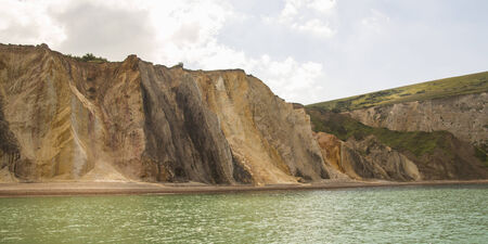 panoramic view of alum bay on the coast of the isle of wight Stock Photo