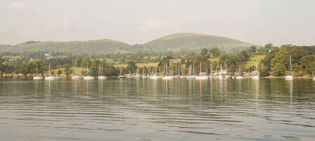 lake district england: ullswater in lake district, england, united kingdom