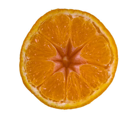 Slice of Orange Fruit - isolated on white