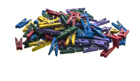 multi-coloured clothes pegs