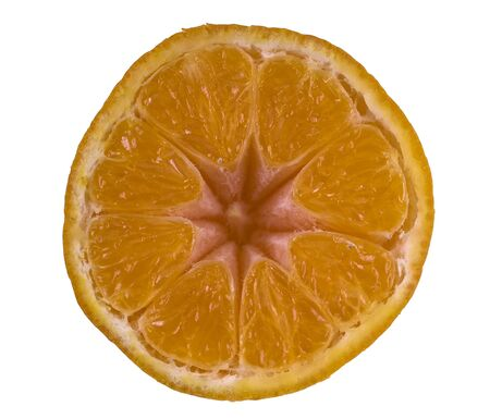 Slice of Orange Fruit - isolated on white
