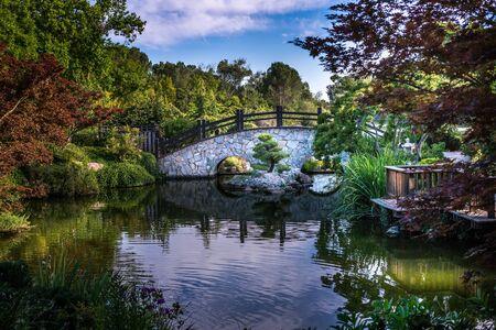 The garden bridge Stock Photo