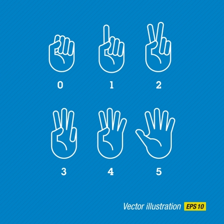 hands and fingers Vector
