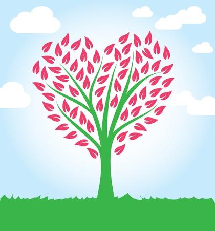ecologic: �rbol de la forma del coraz�n Vectores