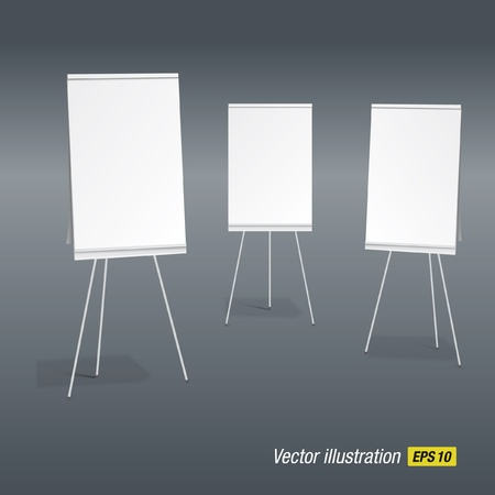 tripods: paperboards Illustration