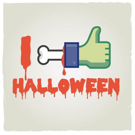 social networks: i like halloween  Funny concept halloween and social networks icon
