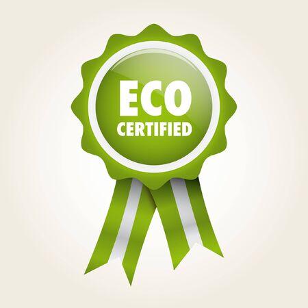 ecologic: bio etiqueta verde distintivo ecol�gico Vectores