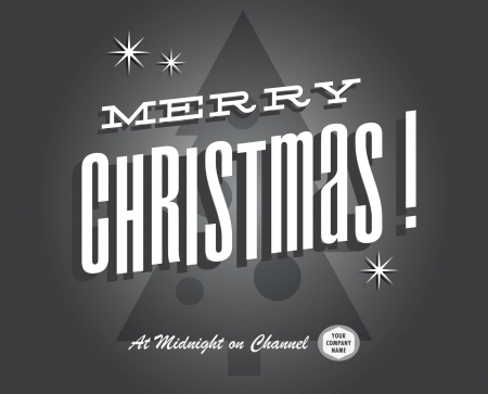 Merry christmas vintage tv show and cinema Vector