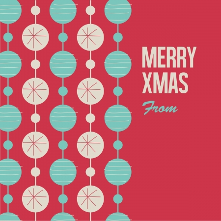 Merry Christmas card illustration , letterpress style  Vector
