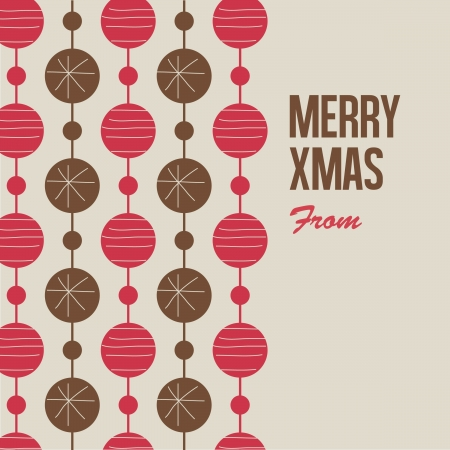 Merry Christmas card illustration , letterpress style  Vector