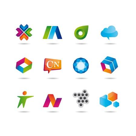 the arrow: Conjunto de logotipo y los iconos