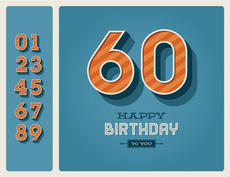 Template happy birthday card with number editable Stock Vector - 16758141