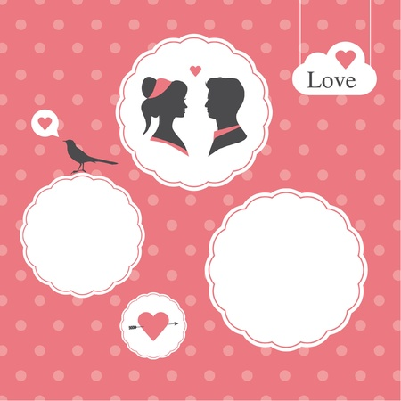 happy valentines day card, template editable, valentines day background Stock Vector - 17552238