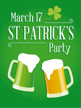 Happy St Patricks day party poster invite Stock Vector - 17729691