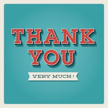 merci: Merci carder, avec la police, de la typographie et le ruban Illustration