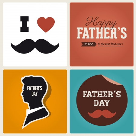 Happy fathers day card vintage retro type font Stock Vector - 18537894