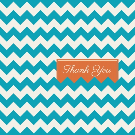wedding card design: chevron seamless pattern background, thank you card