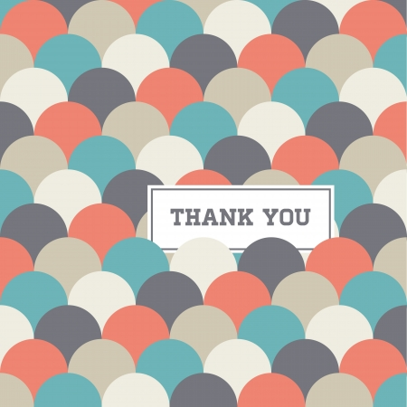 thank you card: circle japanese seamless pattern background, thank you card