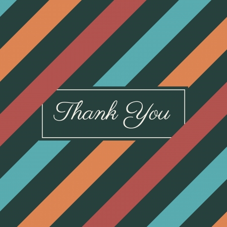 merci: raies seamless, carte de remerciements Illustration