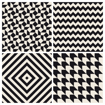 muster: seamless pattern Hintergrund eingestellt retro Vintage-Design Illustration