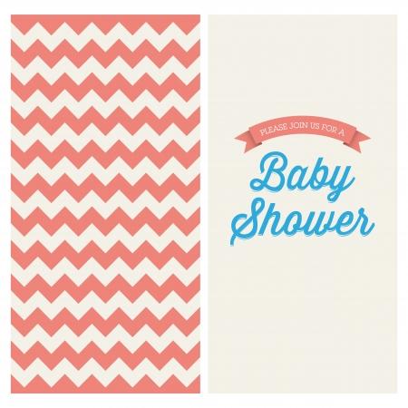 invitacion baby shower: Baby shower tarjeta de invitaci�n editable con fondo vintage retro gal�n, tipo, fuente, y las cintas