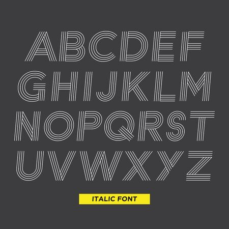 sport background: Stripe italic font Illustration