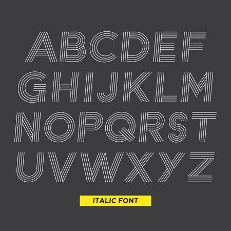 italic: Stripe italic font Illustration