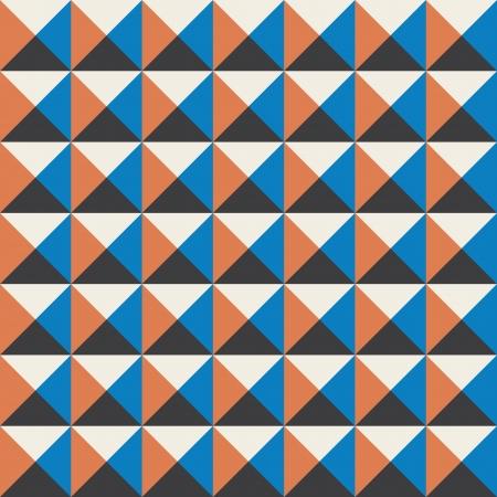pop art herringbone pattern: colors cubes seamless pattern background vintage retro