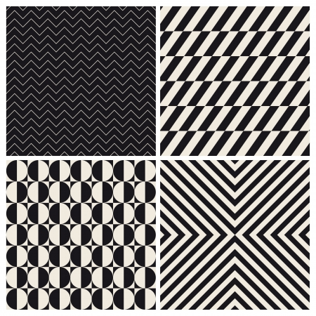 pop art herringbone pattern: seamless pattern background set retro vintage design