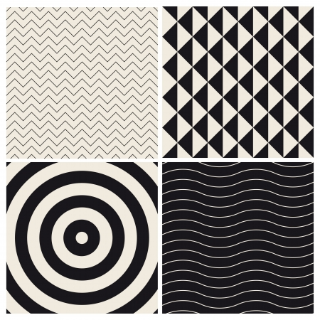 pop art herringbone pattern: seamless pattern background set retro vintage design vector