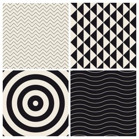 seamless pattern background set retro vintage design vector