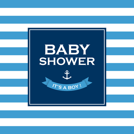 its a boy: Baby shower card invitation, it�s a boy  Vector design elements editable