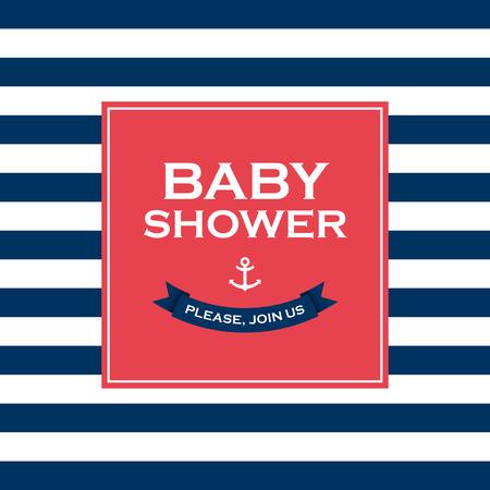 Baby shower card invitation  Vector design elements editable