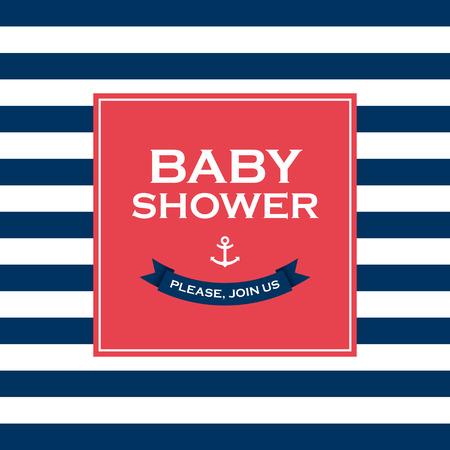 shower room: Baby shower card invitation  Vector design elements editable