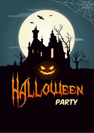 ghost house: Halloween party poster