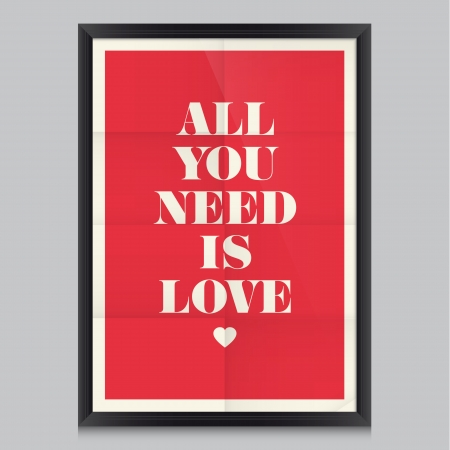love: Love quote poster  Effects poster, frame, colors background and colors text are editable  Happy Valentines card  Wedding invitation