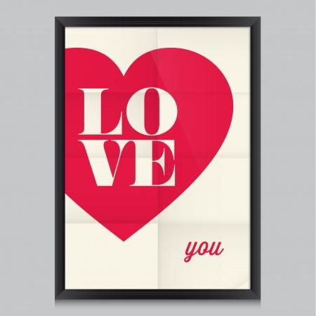 love of life: Citazione Amore manifesto Effetti manifesto, cornice, colori di sfondo e colori del testo sono modificabili Buon San Valentino invito di nozze