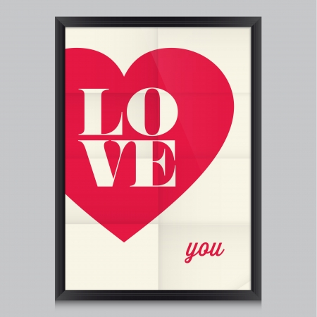 Love quote poster  Effects poster, frame, colors background and colors text are editable  Happy Valentines card  Wedding invitation