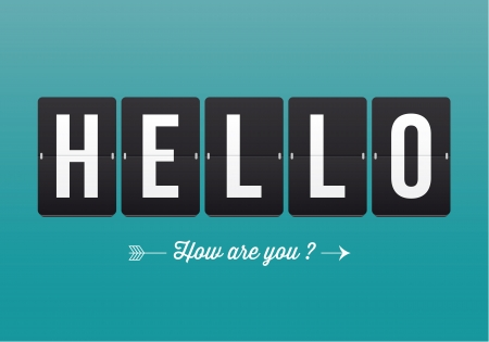 Hello, mechanical panel letters  Typography, font, type vector vintage retro  Vector