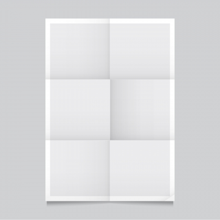 poster on wall: Poster template folded vector design  Easy to edit with your picture