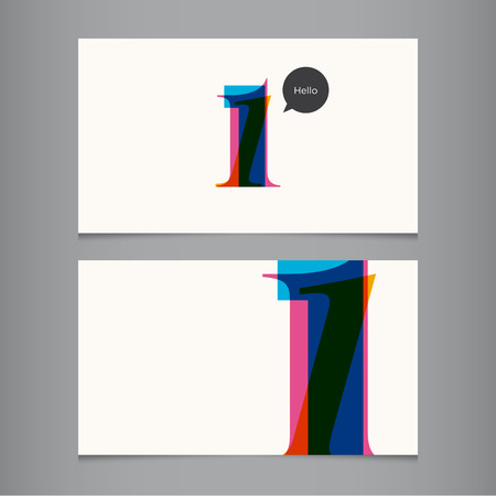 number one: Plantilla de la tarjeta con el número, color editable Ideal para los trabajadores independientes, empresa, comercio, restaurante