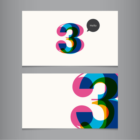 number: Business card template with number, color editable  Ideal for independent worker, company, shop, restaurant