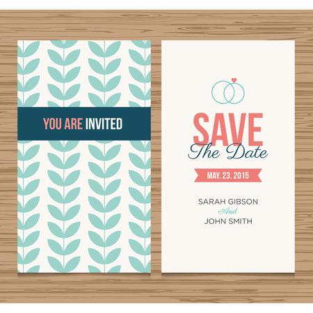 wedding card invitation template editable, pattern vector design  Illustration