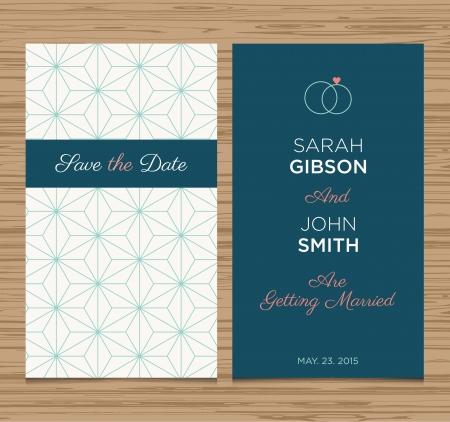 Modèle de carte d'invitation de mariage modifiable, conception de vecteur de tendance Banque d'images - 23122761