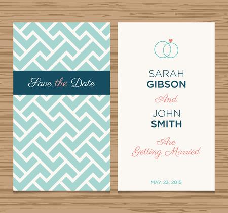 wedding card invitation template editable, pattern vector design  Vector