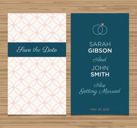 wedding card invitation template editable, pattern vector design Stock Vector - 23122788