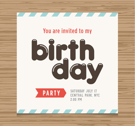 Birthday Party Invitation Card Balloons Numbers Vector Design – Birthday Card Font