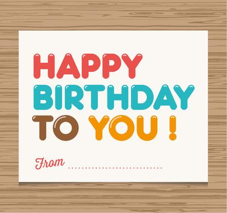 auguri di buon compleanno: Scheda di buon compleanno, palloncini tipo di font disegno vettoriale Vettoriali