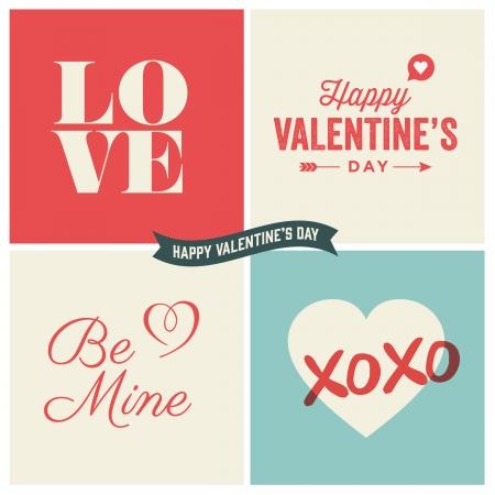 carta de amor: Valentine s ilustraciones d�as y elementos de tipograf�a